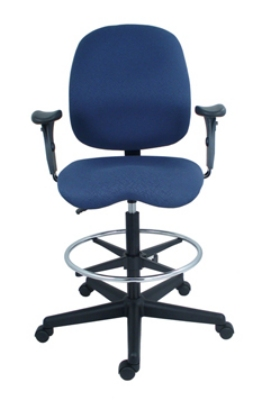 Ergocraft PS-5964-2481-ST Cameron Task Stool w/ Medium Back & 1-Paddle Control, Lumbar Support