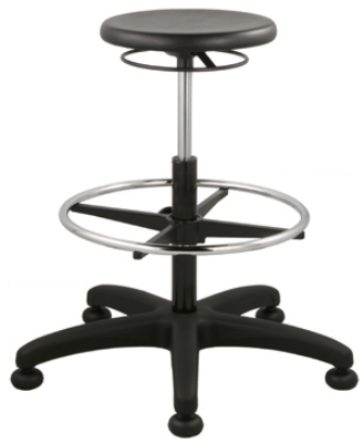 Ergocraft SS-12501-ST Polyurethane Grease Resistant Stool w/ Ring Activated Height