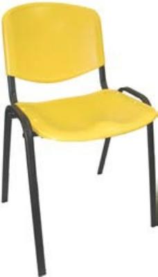 Ergocraft SS-19350 Active Stacker Chair w/ Polypropylene Shell & Steel Frame, Stackable