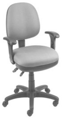 Ergocraft SS-20654 Workmate Task Chair w/ Medium Back & 4-Paddle V Control, Pneumatic Seat
