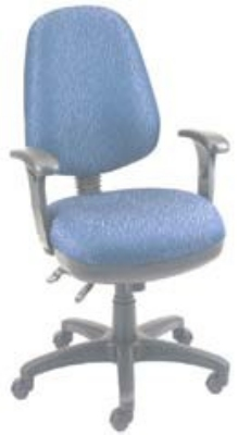 Ergocraft SS-20682 Workmate Task Chair w/ High Back & 2-Paddle V Control, Tilt Lock