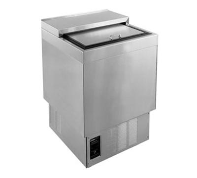 Glastender MF24-B2 1- Section Glass Chiller w/ 105- Mug Capacity, Black, 115v