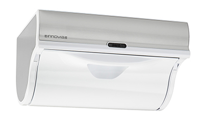 Innovia WB2-159W Automatic Paper Towel Dispenser w/ 6.5-in Round Roll Capacity, Stainless, White