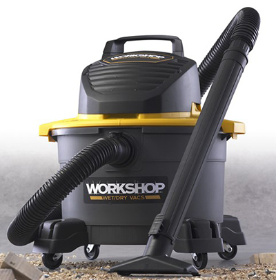 Workshop WS0600VA 6-gal General Purpose Wet/Dry Vacuum - 2.5-Peak HP, Utility Nozzle, Filter