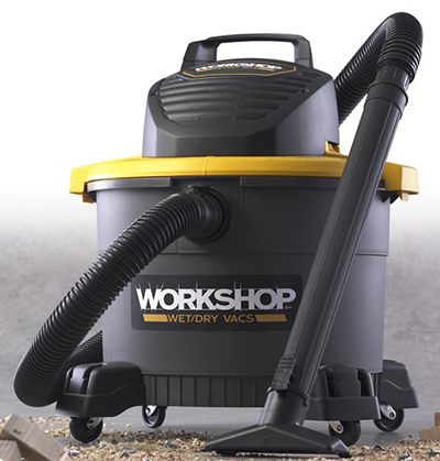 Workshop WS0900VA 9-gal General Purpose Wet/Dry Vacuum - 3.5-Peak HP, Hose, Utility & Wet Nozzle