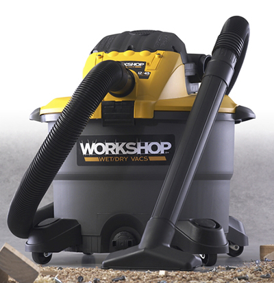 Workshop WS1200DE 12-gal Detachable Blower Wet/Dry Vacuum - 5-Peak HP, Hose, Locking Sleeve, Filter
