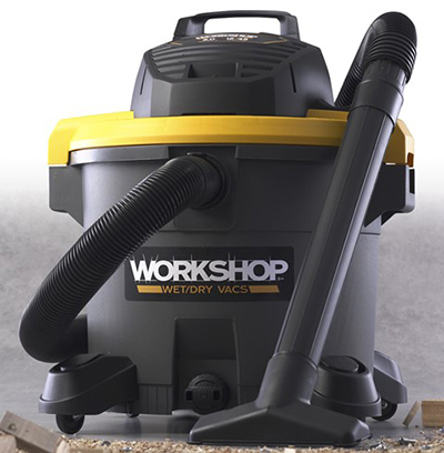 Workshop WS1200VA 12-gal High Power Wet/Dry Vacuum - 5-Peak HP, Hose, Locking Sleeve