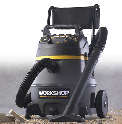 Workshop WS1400CA 14-gal High Power Wet/Dry Cart Vacuum - 6-Peak HP, Hose, 2-Extension Wands, Dust Bag