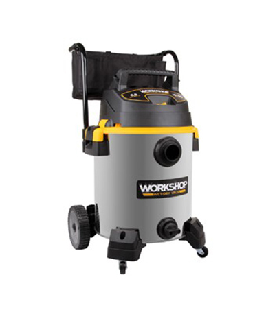 Workshop WS1600SS 16-gal Wet Dry Vacuum, Cart Style, 7' Hose, Stainless Steel, Polypropylene