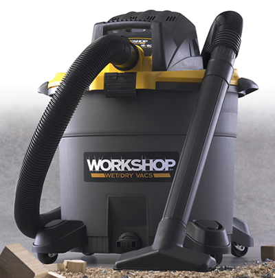 Workshop WS1600VA 16-gal High Capacity Wet/Dry Vacuum - 6.5-Peak HP, Hose, Car Nozzle, 2-Extension Wands