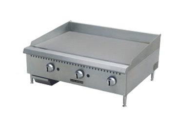 "Black Diamond BDCTG-24 LP 24"" Countertop Griddle - Heavy Duty, 60,000 BTU, Stainless, LP"