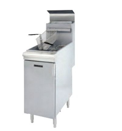 Black Diamond BDGF-120 LP Standing Deep Fryer - 50 lb Capacity, 2-Basket, 120,000 BTU, Stainless, LP