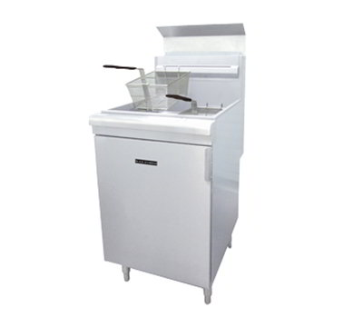 Black Diamond BDGF-150 NG Standing Deep Fryer - 70 lb Capacity, 2-Basket, 150,000 BTU, Stainless, NG