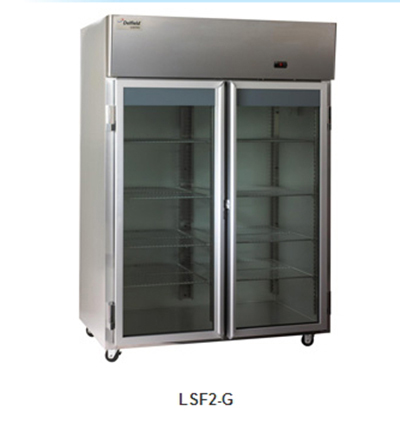 "Delfield Scientific LAF1-G 29"" Reach-In Freezer - (1) Glass Full Door, Aluminum/Stainless"