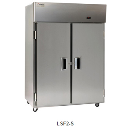 "Delfield Scientific LAF2-S 56"" Reach-In Freezer - (2) Solid Full Door, Stainless Exterior"