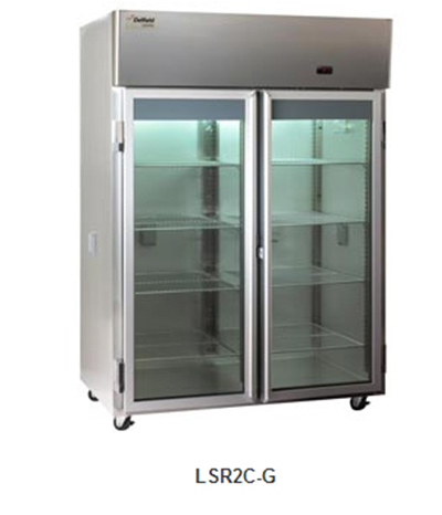 "Delfield Scientific LAR1C-G 29"" Chromatography Reach-In Refrigerator - (1) Glass Full Door, Aluminum/Stainless"