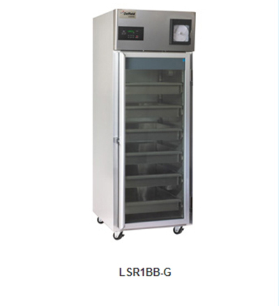 "Delfield Scientific LAR2BB-G 56"" Blood Bank Reach-In Refrigerator - (2) Glass Full Door, Aluminum/Stainless"