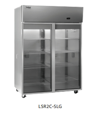 "Delfield Scientific LAR2C-SLG 56"" Chromatography Reach-In Refrigerator - (2) Glass Full Sliding Door, All Stainless"
