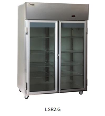 "Delfield Scientific LAR2-G 56"" Reach-In Refrigerator - (2) Glass Full Door, Stainless Exterior"