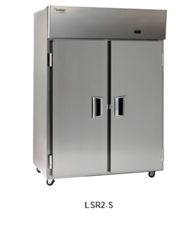 "Delfield Scientific LAR2-S 56"" Reach-In Refrigerator - (2) Solid Full Door, Stainless Exterior"