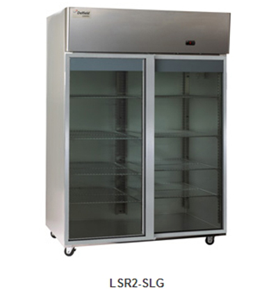 "Delfield Scientific LAR2-SLG 56"" Reach-In Refrigerator - (2) Glass Full Sliding Door, Stainless Exterior"