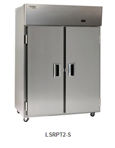 "Delfield Scientific LARPT1-S 29"" Pass-Thru Refrigerator - (1) Solid Full Door, Stainless Exterior"