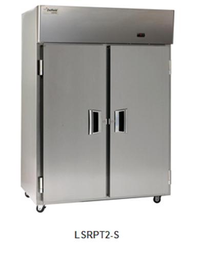 "Delfield Scientific LARPT3-S 83"" Pass-Thru Refrigerator - (3) Solid Full Door, Stainless Exterior"