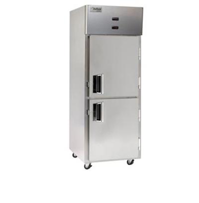 """Delfield Scientific LMDTR1-SH 29"""" Reach-In Refrigerator/Freezer - (2) Solid Half Door, Aluminum/Stainless"""