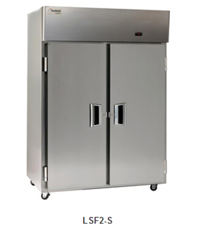 """Delfield Scientific LMF2-S 56"""" Two Section Reach-In Freezer, (2) Solid Doors, 115v"""