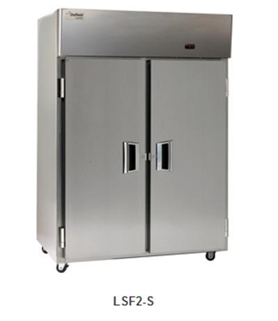 """Delfield Scientific LMF2-S 56"""" Reach-In Freezer - (2) Solid Full Door, Aluminum/Stainless"""