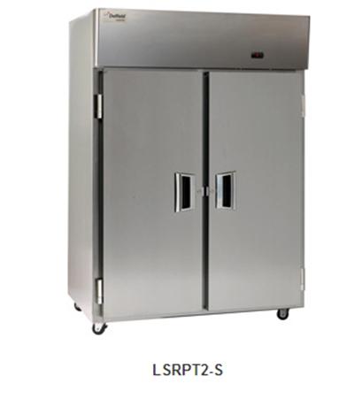 "Delfield Scientific LMRPT3-S 83"" Pass-Thru Refrigerator - (3) Solid Full Door, Aluminum/Stainless"