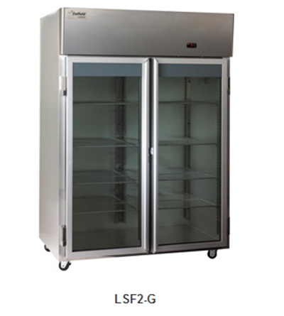 "Delfield Scientific LSF1-G 29"" Reach-In Freezer - (1) Glass Full Door, All Stainless"