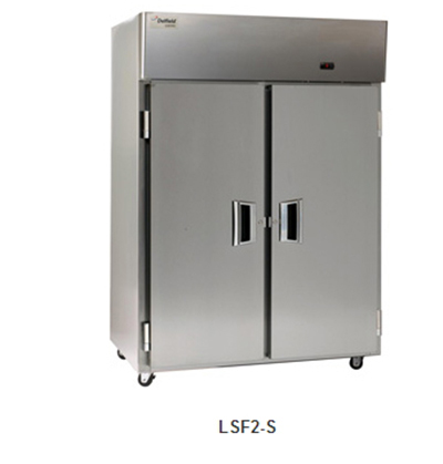 "Delfield Scientific LSF2-S 56"" Reach-In Freezer - (2) Solid Full Door, All Stainless"