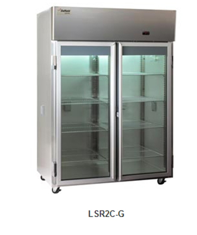 "Delfield Scientific LSR1C-G 29"" Chromatography Reach-In Refrigerator - (1) Glass Full Door, All Stainless"