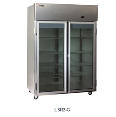 "Delfield Scientific LSR1-G 29"" Reach-In Refrigerator - (1) Glass Full Door, All Stainless"