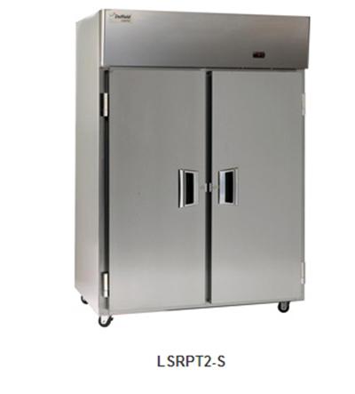 "Delfield Scientific LSRPT2-S 56"" Pass-Thru Refrigerator - (2) Solid Full Door, All Stainless"