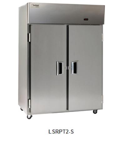 "Delfield Scientific LSRPT3-S 83"" Pass-Thru Refrigerator - (3) Solid Full Door, All Stainless"