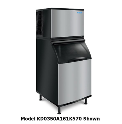 Koolaire by Manitowoc KD-0350A161K570 Full Cube Ice Machine - 375-lb/24-hr, 430-lb Bin Capacity, Air Cool, 115V