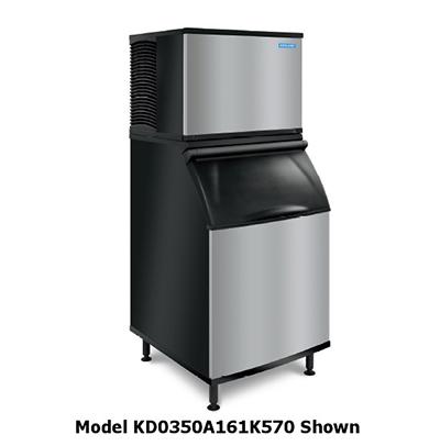 Koolaire by Manitowoc KD-0350W261K570 Full Cube Ice Machine - 381-lb/24-hr, 430-lb Bin Capacity, Water Cool, 208V