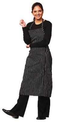 Chef Revival 619BA-WS Cotton Pinstripe Bib Apron