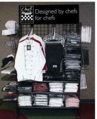 Chef Revival CRDR6 Merchandiser Display Rack, 4-Sided, 6 x 2-ft