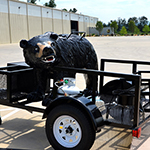 Tail Gaters BEAR Outdoor Wood Smoker w/ Gas Burner & Utility Trailer, Bear
