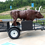 Tail Gaters STEER Outdoor Wood Smoker w/ Gas Burner & Utility Trailer,