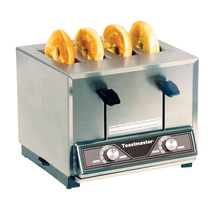 Toastmaster BTW24 208/240 Pop Up Toaster w/ 4-Extra Wide Slots, 300-Slices/Hr, 208/240 V