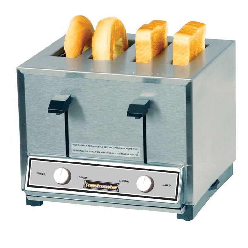 Toastmaster HT424 208/240 4-Slot Pop Up Toaster, 2-Wide & 2-Thin Toasting, 208/240 V