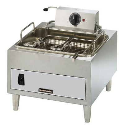 Toastmaster TMFE15 240 15-lb Fryer w/ Twin Baskets & Thermostatic Controls, 240/1 V
