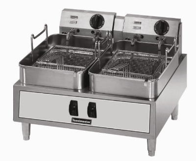 Toastmaster TMFE30 240 30-lb Fryer w/ Twin Baskets & Thermostatic Cont
