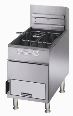 Toastmaster TMFG18 NG 18 lb Gas Fryer, Heavy Duty, Thermostat Control, Twin Baskets, NSF, NG