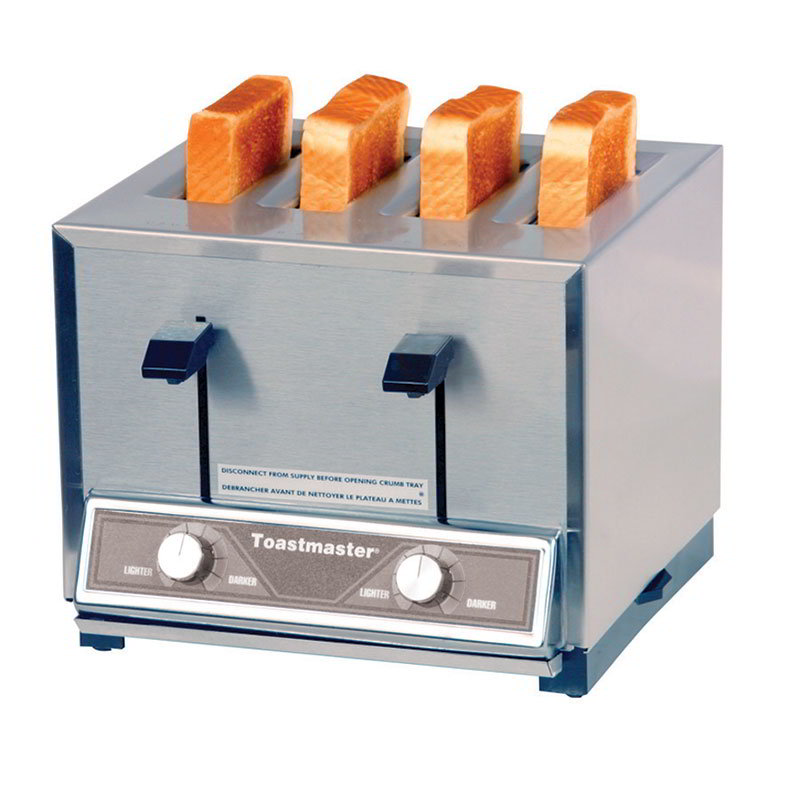 Toastmaster TP424 208/240 Pop Up Toaster w/ 4-Narrow Slots, 250- Slices/Hr, 208/240 V