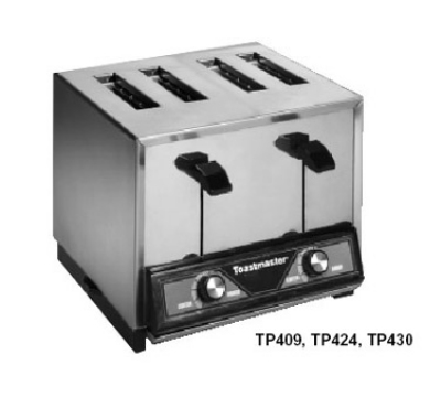 Toastmaster TP4C09 120 Pop Up Toaster w/ 4-Narrow Slots, 250- Slices/Hr, 120 V (Canada)